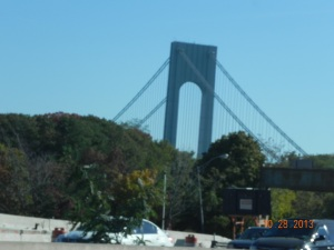 almost home when I see the Verrazano Narrow Bridge