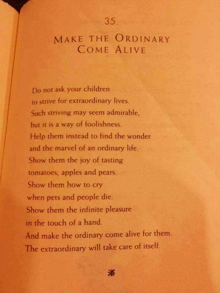 make the ordinary